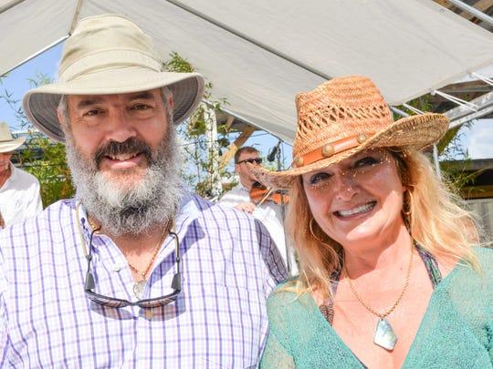 Jerry and Tamara Renick, sponsors with Ecotone Farm,