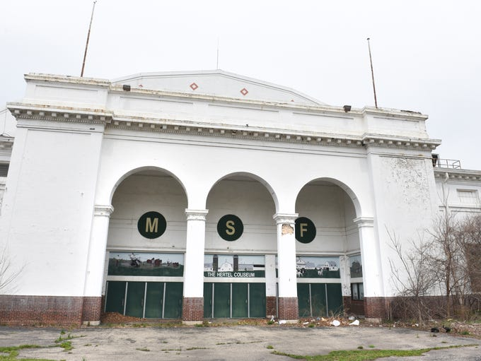 The Hertel Coliseum still stands at the Michigan State