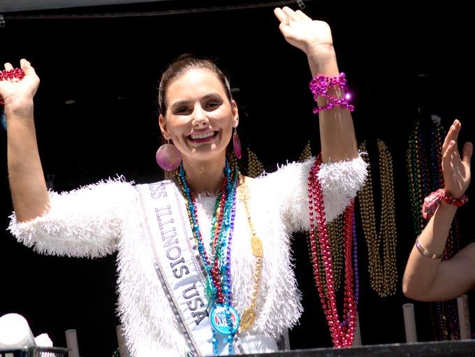 The Miss USA and Miss Teen USA Mardi Gras parade Monday