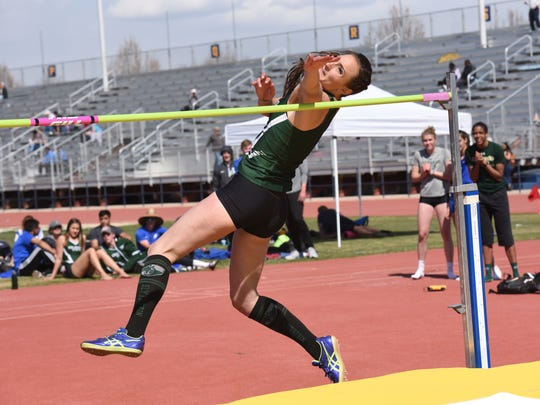 Autumn Gardner set a CSU record in the women's high