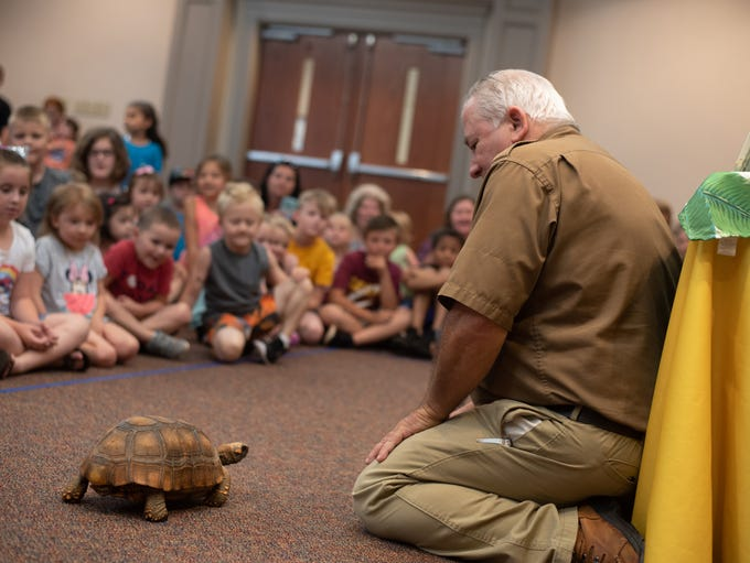 Randy Miller, also known as the Critter Keeper, teaches