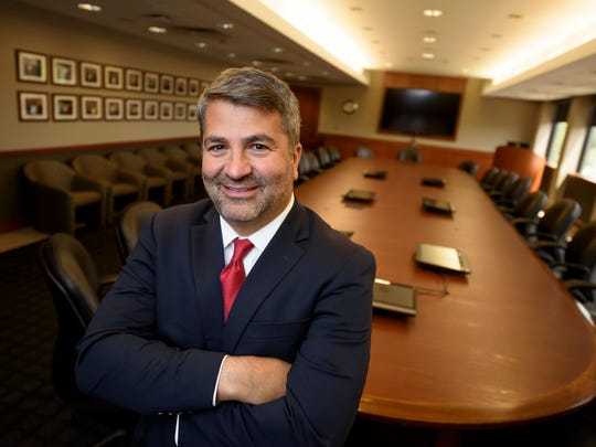 """""""The vision is for Michigan to be a statewide health system,"""" said Ascension Michigan CEO Joseph Cacchione, M.D., seen at the St. John Providence Corporate Services Building in Warren."""
