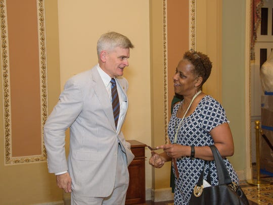 U.S. Senator Bill Cassidy (R-LA) and Gannett reporter