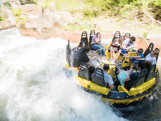 Silliness + water = A very Dad-friendly ride. This