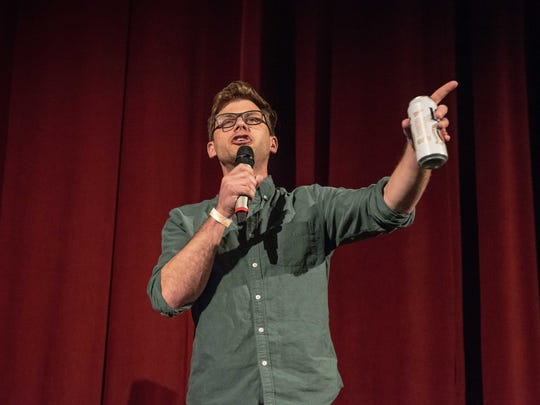 """Comedian Charlie Berens, known for his hit online video series """"Da Manitowoc Minute,"""" made a surprise appearance at Miller Brewing's """"Cheers to Milwaukee"""" concert at the Riverside Theater Friday."""