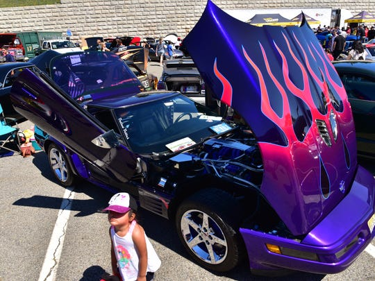 Hot Rod builders and their cars competed in the Hot Wheels Legends Tour in Garfield, NJ. The winner gets a chance for his car to be turned into a Hot Wheel, a die-cast scale model toy cars.