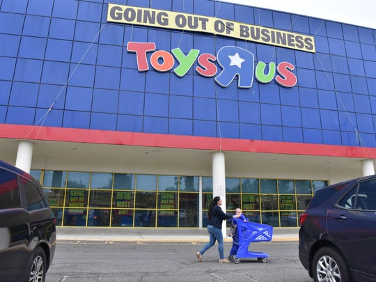 Final Saturday at Toys R Us store in Paramus, NJ.