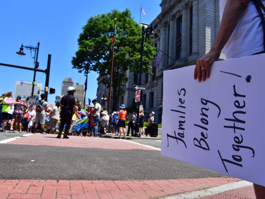 Families Belong Together March in Newark, NJ