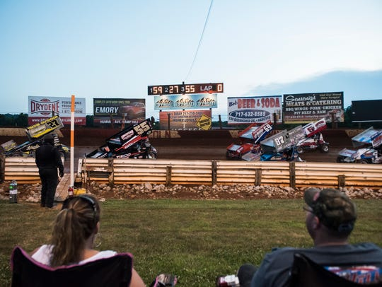 Action during night four of the Pennsylvania Speed