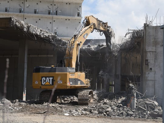 Demolition crews took down the failed Wayne County Jail site in 2018.