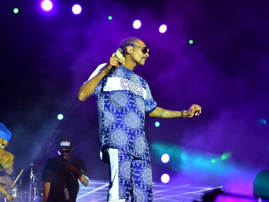 Rapper Snoop Dogg performs in Jersey City on July Fourth