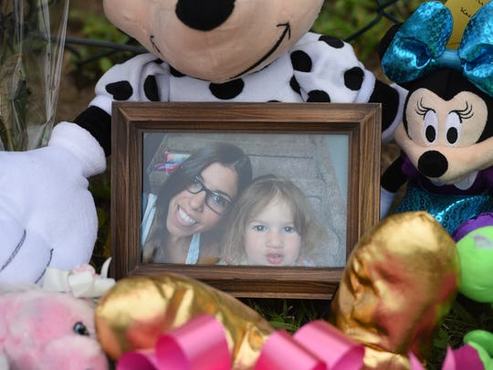 July 2016 memorial for Sienna Maloney, a 3-year-old