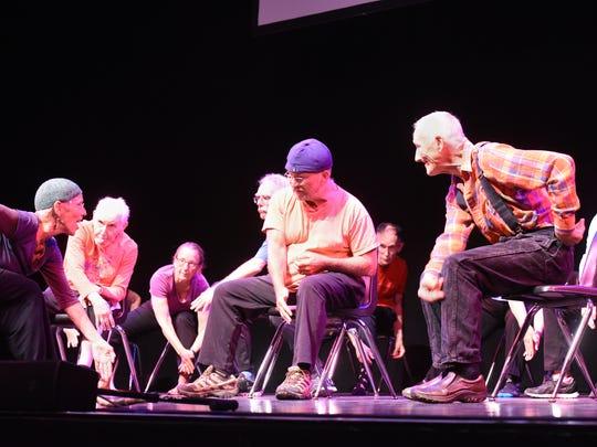 Movement for Parkinsons participants perform for an