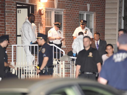 The NYC OCME (medical examiner) removing the body of