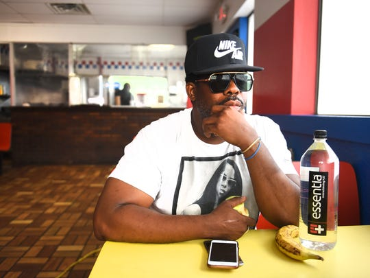 DeShawn Reed inside D's Coney Island on July 31, 2018 in Detroit after being released 9 years ago for being wrongfully incarcerated. Reed, is  reopening a coney island in his community after the former owner was shot and killed in 2016.