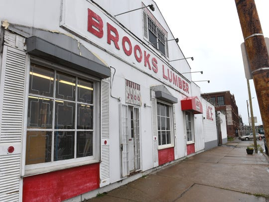 Brooks Lumber on Trumbull Avenue on Friday, July 20,