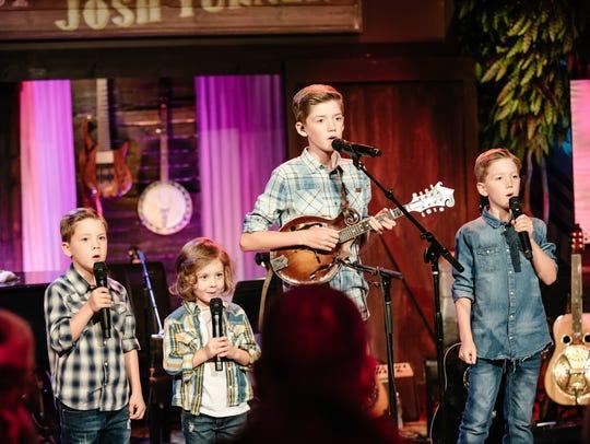 Josh Turner's sons — Marion, 7, Hawke, 4, Hampton,
