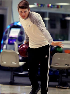Luke Flatt, the Boys Bowler of the Year, photographed at Ebonite Galaxy Lanes in Columbia Friday March 25, 2016.