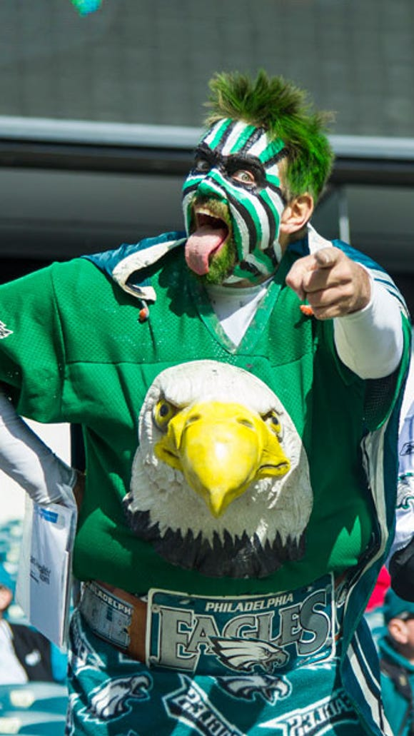 The Birdman. Send your Eagles Super Fan Photos to cpsjonline@gannett.com for a chance to win $50!