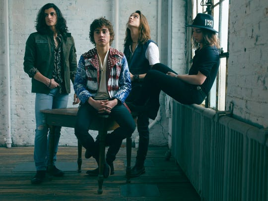 Greta Van Fleet, left to right: Danny Wagner (drums),