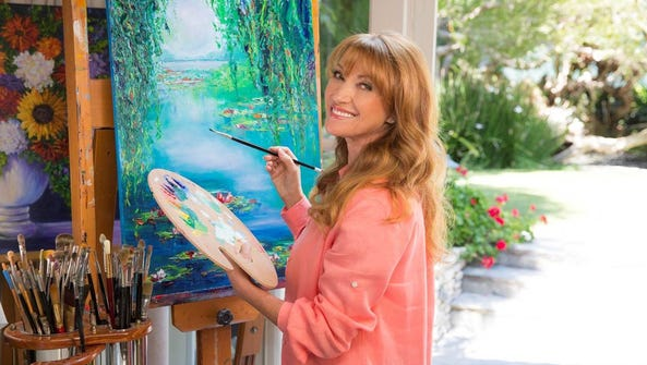Actress Jane Seymour also is an artist. Her work will