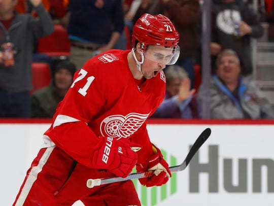 Detroit Red Wings center Dylan Larkin