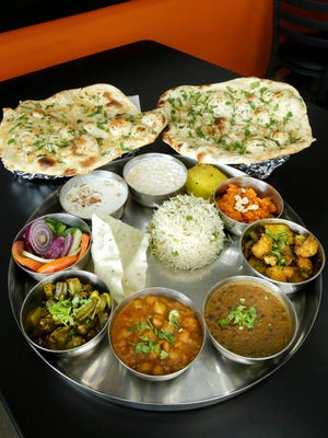The thali is a feast on a tray at the vegetarian restaurant Indian Delight, 140 E. Drexel Ave., Oak Creek. At $9.99, it's the most expensive menu item. Snacks start at 79 cents.
