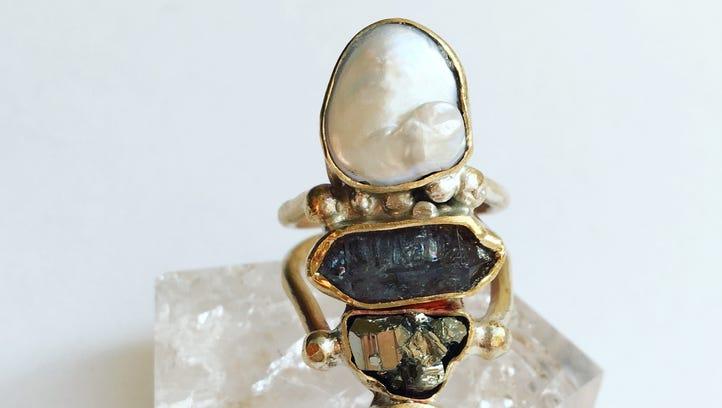Miranda Hope pieces are stunning stacks of crystals,