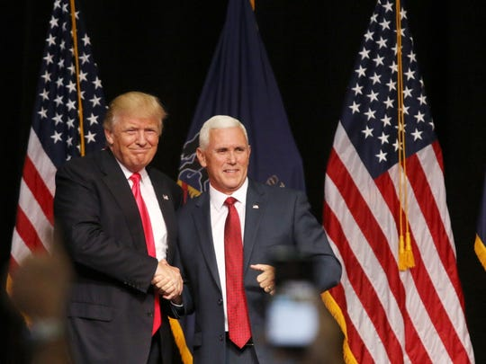 Donald Trump and Mike Pence campaign in  Scranton,