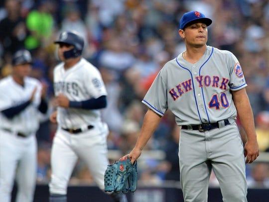 Apr 28, 2018; San Diego, CA, USA; New York Mets relief