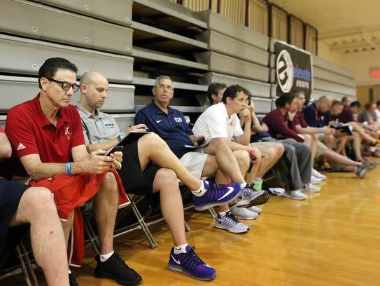 University of Louisville head basketball coach Rick