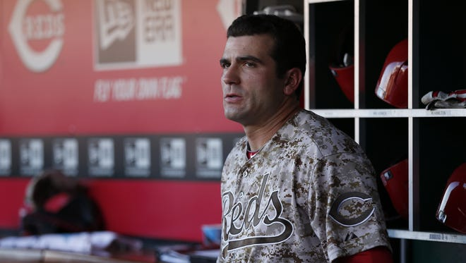 Joey Votto (19) has been struggling with a knee/quad injury.