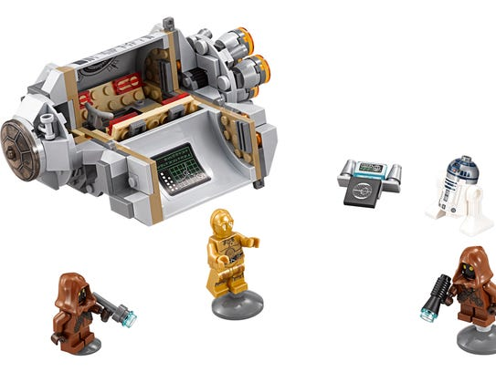This 197-piece Lego set recreates early scenes from
