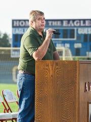 District 742 School Board Chair Al Dahlgren spoke to