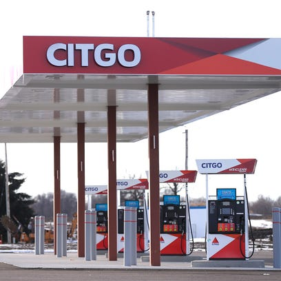 Gas pumps are installed at the new Heritage Ridge Travel