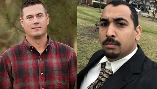 Chris Hinnant (left) and Josiah Cook are vying for the open Place 1 seat on the Smithville school board.