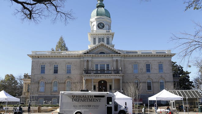 The Athens-Clarke County Health Department kicked off a free health fair Wednesday next to City Hall.