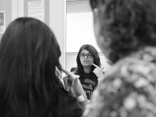 Feb. 11, 2015: Prerna asks Shriner's Hospital pediatric