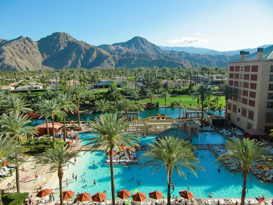 View from atop the Renaissance Esmeralda Indian Wells