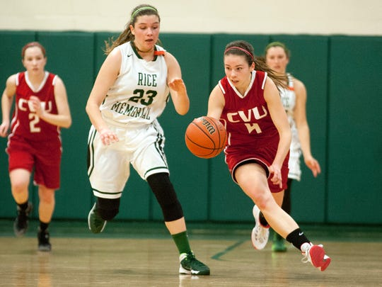 CVU vs. Rice Girls basketball 01/25/14