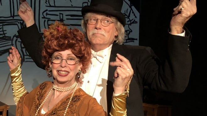 Evelyn Rudie and husband Chris DeCarlo, artistic directors at the Santa Monica Playhouse, in Santa Monica, California.