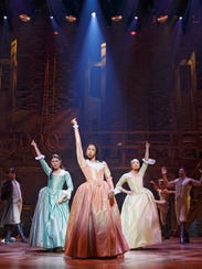 Hamilton at the Richard Rodgers Theatre.