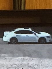This car is believed to have been stolen by an alleged