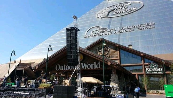 Bass Pro Shops at the Pyramid in Memphis opened April 29, 2015.