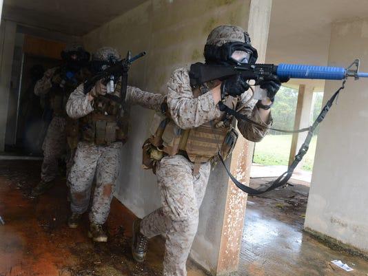 Marines train for urban warfare
