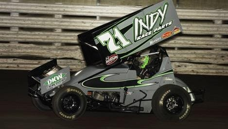 Kevin Swindell was injured in an accident at the Knoxville Nationals.