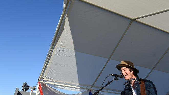 Wes Dorethy performs at the Red, White & Blue Festival at ASUMH on Saturday.