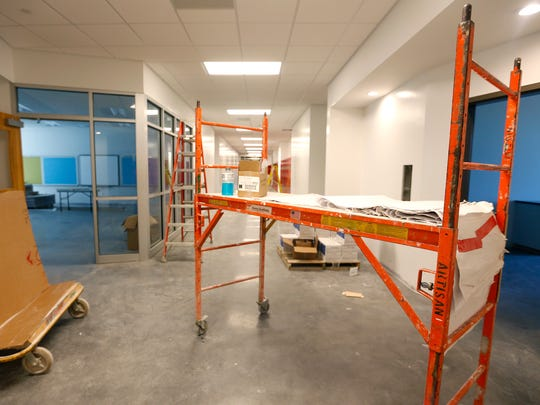 A new wing is under construction at New Covenant Academy