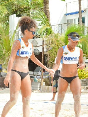 Kendra Byrd, left and Tatiana Sablan will represent Guam in beach volleyball at the 2017 Pacific Mini Games in Vanuatu, scheduled for Dec. 4-15.