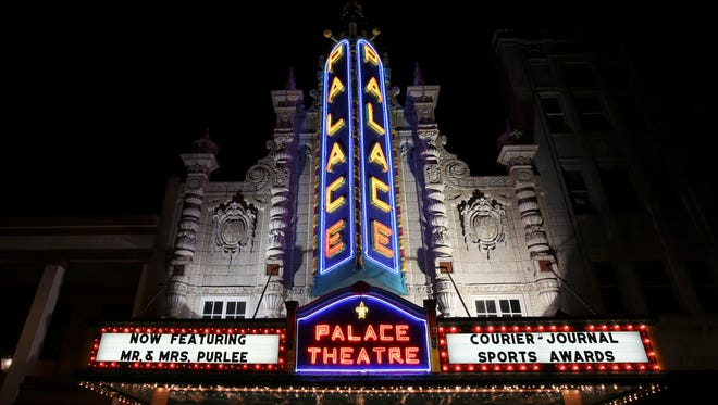 The Louisville Palace exterior during the CJ Sports Awards.June 12, 2017